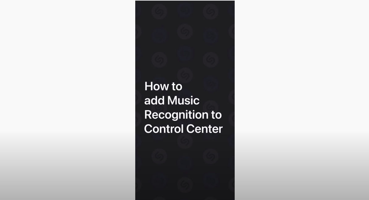 How to add Music Recognition to Control Center on iPhone