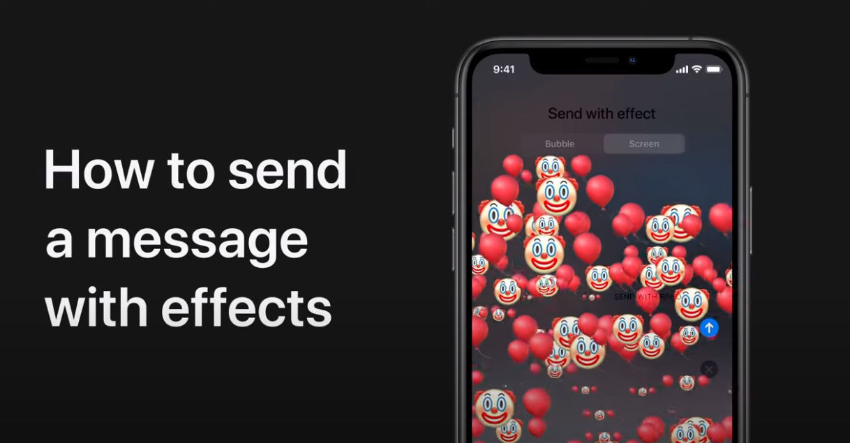 How to send a message with effects on iPhone